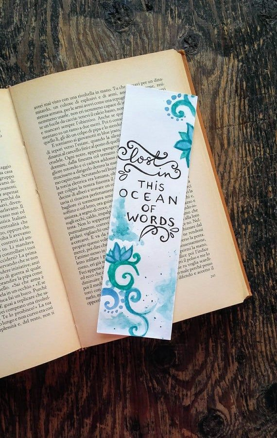 Bookmark Calligraphy Glitter Handmade Quote Shiny Watercolor Handmade Watercolor Bookmark Wit In 2020 Watercolor Bookmarks Bookmarks Handmade Creative Bookmarks