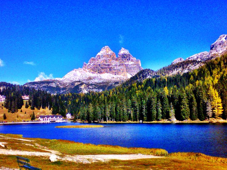 The 3 Sisters and Lake Misurina.