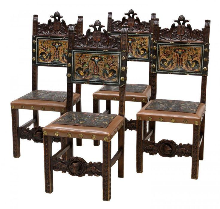 Antique Polychrome Spanish Chairs, Pair on OneKingsLane.com | Antique  Furniture | Pinterest | Spanish colonial, Antique furniture and Furniture  decor - Antique Polychrome Spanish Chairs, Pair On OneKingsLane.com