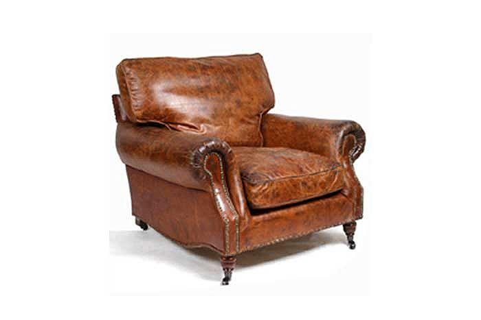 Sill n en piel estilo vintage gran conconfort sillon - Sillones vintage retro ...