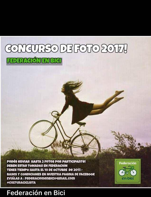 Venís a Federación en Octubre, conocés la ciudad en bici y ¡tus fotos entran en concurso! https://goo.gl/Hs1va4