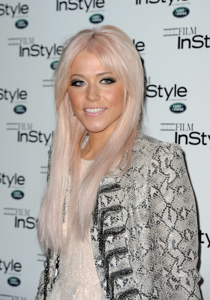 The subtlest hint of pink lifts X-Factor's Amelia Lily's blonde hair from blah to rah!