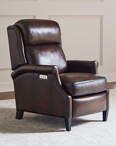 Bernhardt Robin Leather Powered Recliner Chair