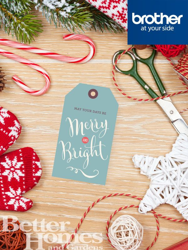 Wish your friends and family a Merry Christmas this year with these cute gift tags from @Brotherau http://bit.ly/1GMmywQ