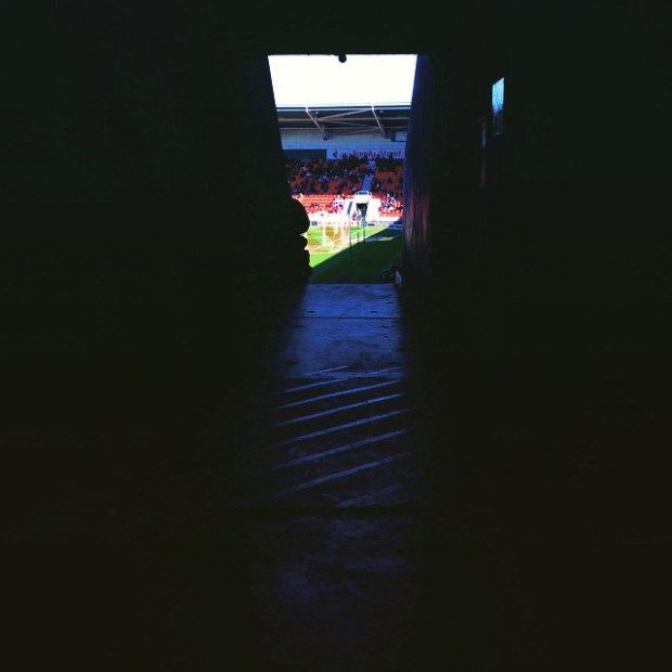 Heading into the Keepmoat Stadium for Doncaster Rovers' home match with Fleetwood Town