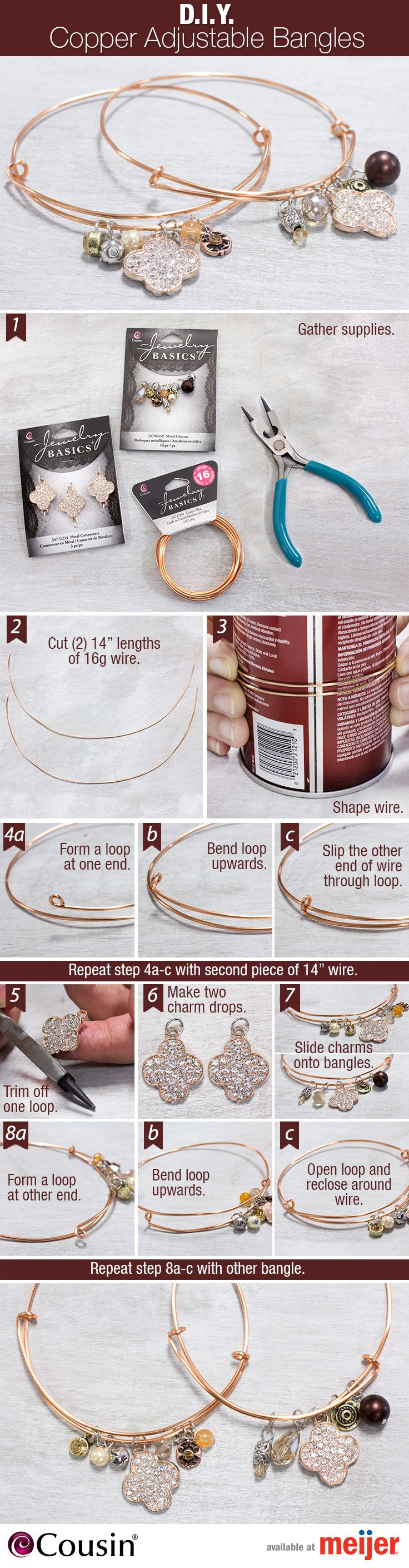 Get crafty and make these simple DIY bangles as a way to celebrate #NationalCraftMonth. Perfect to give as gifts or keep for yourself!