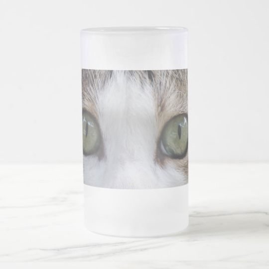 #zazzle #Cat #Eyes #Frosted #16 oz #Frosted #Glass #Mug #office #home #travel #gift #giftidea
