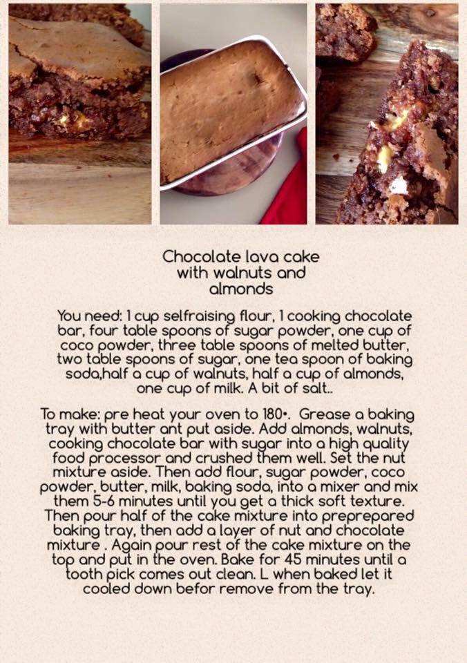 Choc lava nutty cake