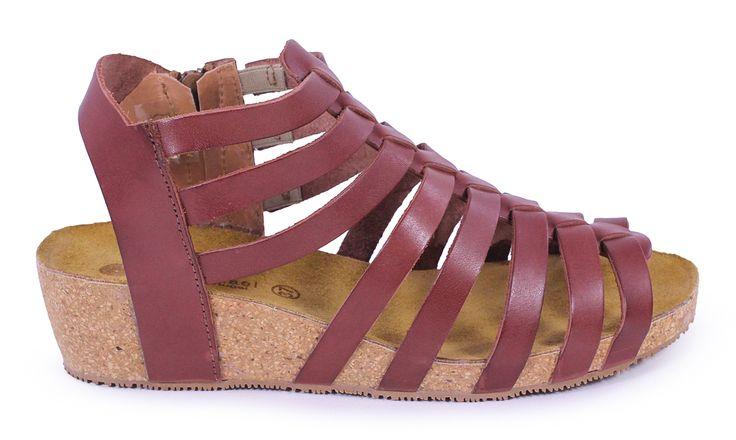 Eric Michael Rose Brown Low Wedge Sandal - Holly & Brooks #shophollyandbrooks #ericmichael #spring #sandals