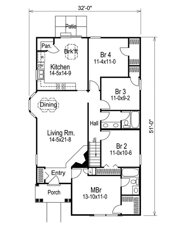 Plan 5793ha Cottage Living Full Bath House And Bath