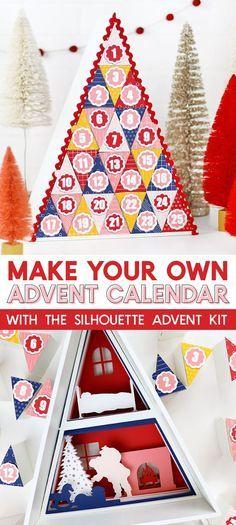 How to make a silhou How to make a silhouette advent calendar