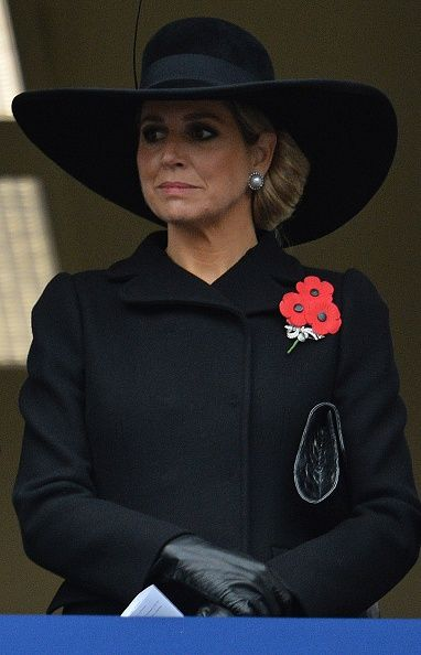 Queen Maxima of the Netherlands attends the Remembrance Sunday ceremony at the Cenotaph on Whitehall London on November 8 2015 Services are held... wow...