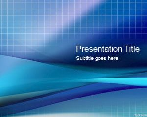 Blue Grid PowerPoint presentation template is a free background slide design for technology presentations | #bluebackground for technology business #PowerPointPresentation