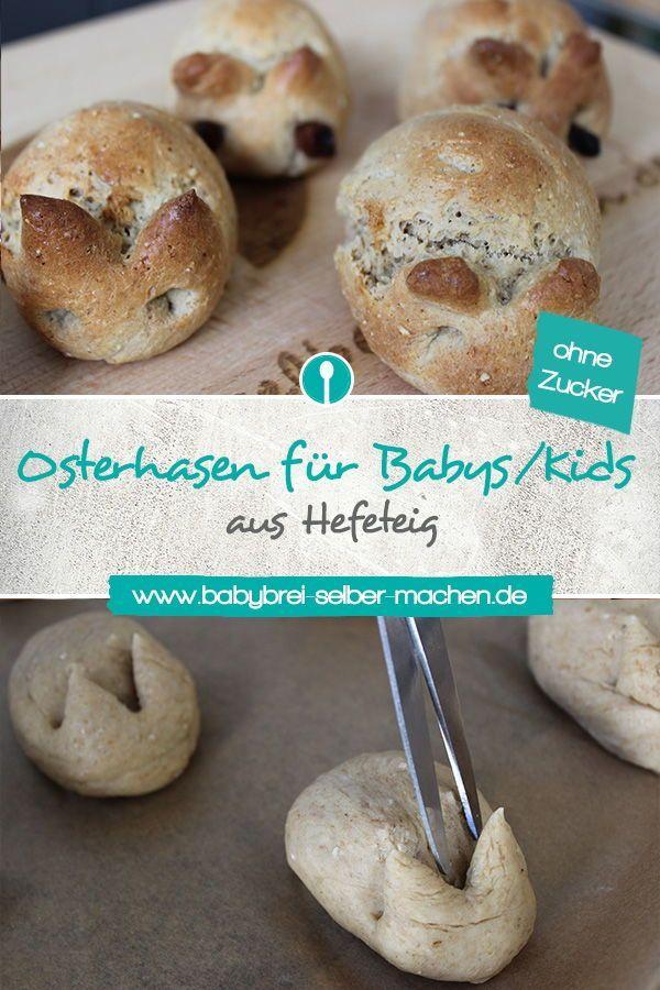 Süße Osterhasen ohne Zucker für Babys und Kleinkinder