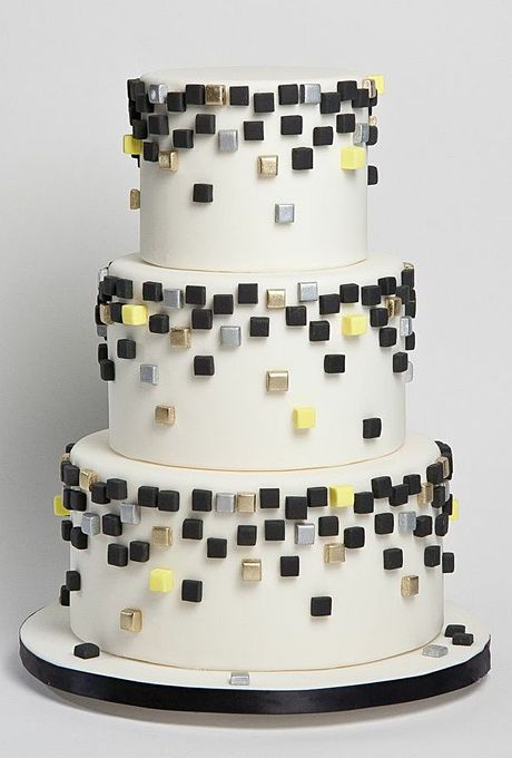 This Sugar Couture cake makes those colors look gleefully festive.