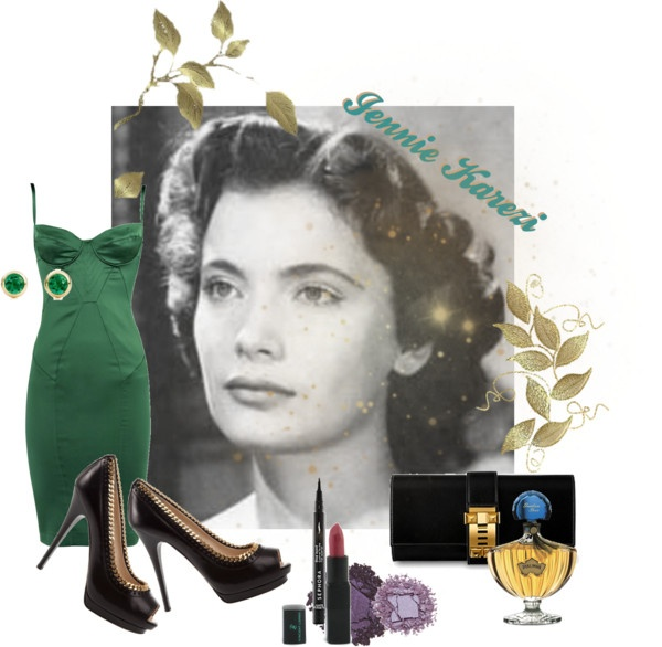 """Greek actresses of the 1950s- Jennie Karezi"" by evitastyle on Polyvore"