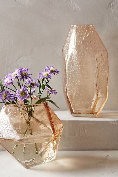 Faceted Gem Vases