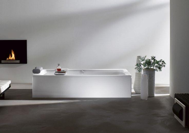 White Rectangular Contemporary Bathtub 800x566 | Contemporary Bathtub Design for Modern Bathroom Looks