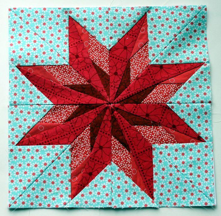 "the pattern from Carol Doak's ""50 Fabulous Paper Piecing Stars"".  The Nebraska star"