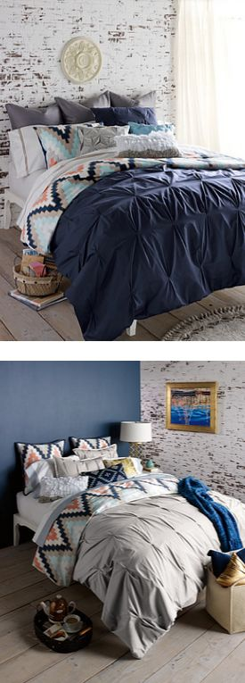 Absolutely loving this color palette and all of this gorgeous texture!  Beach house