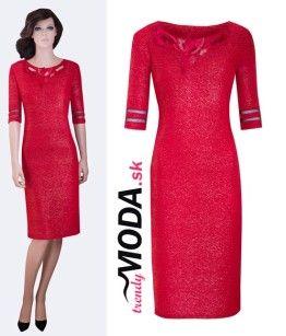 Červené originálne šaty pre moletky - trendymoda.sk