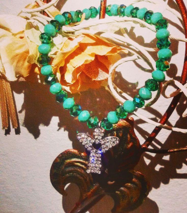 """💚👼""""In un mondo irrefrenabile troviamo spazio per i nostri Angeli...a Celita grazie per aver scelto CreaCi💚👼 #CreaCi #colcuore #creatività #creativity #handmade #handmadejewelry #bijoux #bijoupersonalizzati #ideeregalo #bricolage #bracelets #charms #pendants #giftideas #angels #fantasy #green #bijouxhandmade #giftideas #bijoubrigitte #accesorize #giorgiovisconti #kisskissgioielli #swarovski #morellato #pandora #sagapò"""