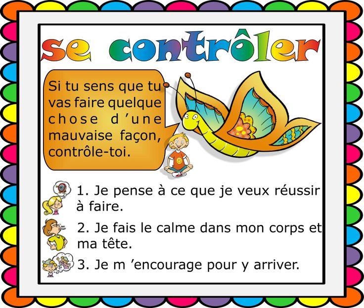 Affiche Attentix contrôle de soi www.tdah.be