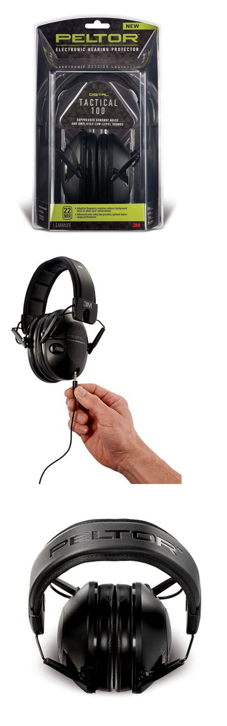 Hearing Protection 73942: Peltor Tactical 100 Earmuffs Electronic Hearing Protector 3M - Tac100 -> BUY IT NOW ONLY: $57.5 on eBay!