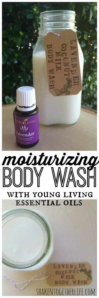 DIY moisturizing body wash with coconut milk & Young Living lavender essential oil