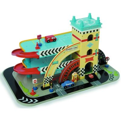 """Le Toy Van, Garage """"Mikes Retro"""" från Le Toy Van hos Stor&Liten"""