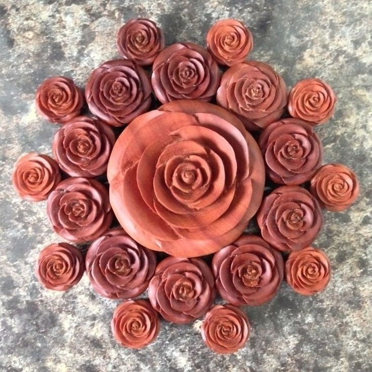 carved rose plugs