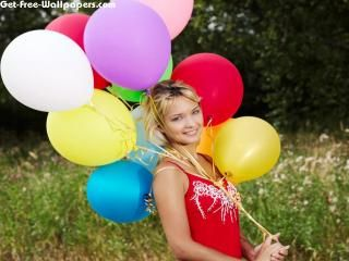 Free Lady W Colorful Balloons Wallpapers, Lady W Colorful Balloons Pictures, Lady W Colorful Balloons Photos, Lady W Colorful Balloons #11913 1280X1024 wallpaper