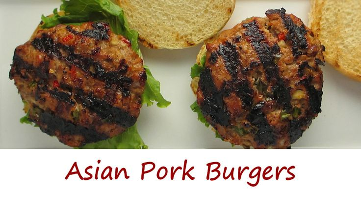 pork burgers asian pork just be soy sauce lettuce grilling vegetables ...