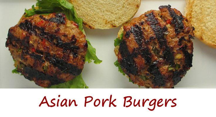 pork burgers asian pork just be soy sauce lettuce grilling vegetables ...