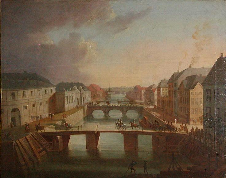 Christian August Lorentzen (1749-1828): Parti af Frederiksholms Kanal,  1794