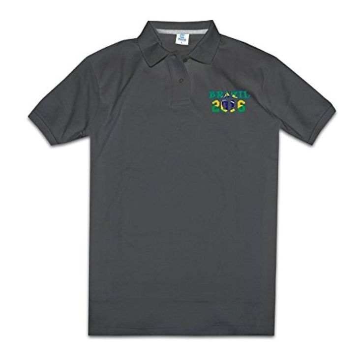 DETED Classical Brazil 2016 Short Sleeve Polo For Mens Black Size S - Brought to you by Avarsha.com