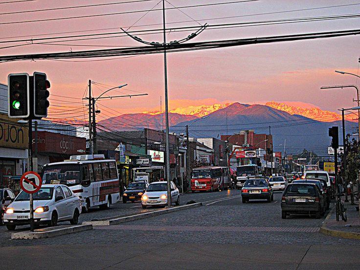 San Fernando Chile al atardecer