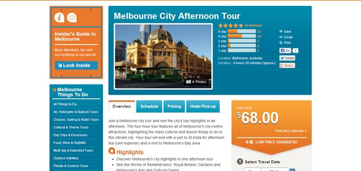 Melbourne City Afternoon Tour - Melbourne | Viator | Quick Markup