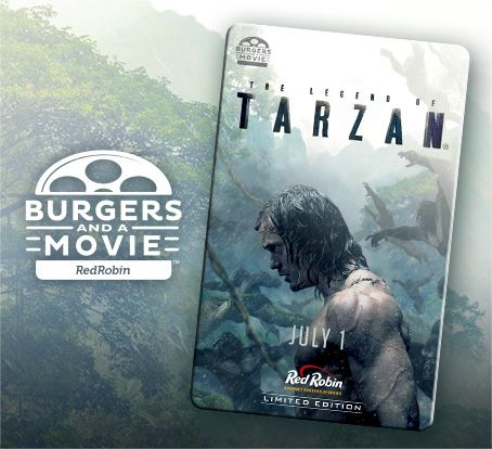 338 best tarzan other erb images on pinterest tarzan movie red robin the legend of tarzan gift card and free movie ticket promotion fandeluxe Images