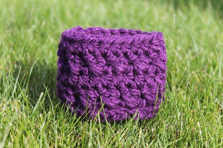 Crochet Crosses Coffee Cozie. $7 or 2/$10