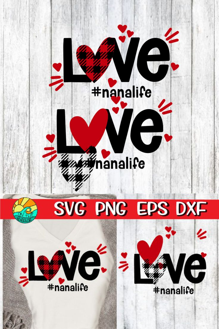 Download Love - Nanalife - Buffalo Plaid - SVG PNG EPS DXF in 2020 ...