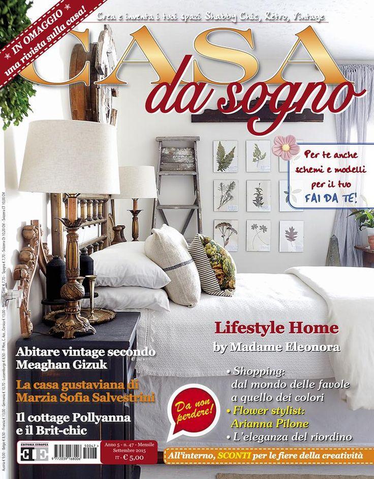 Da questo mese Eleonora Miucci torna sulla rivista Casa da Sogno - dopo una pausa di otto mesi per la lavorazione del suo nuovo libro in uscita ad autunno - in copertina e all'interno del magazine ...