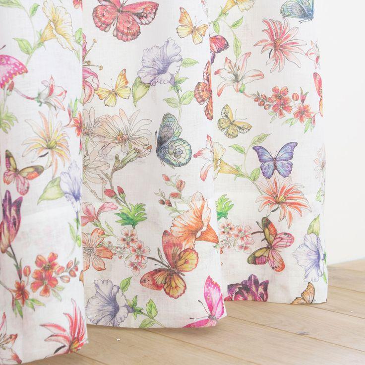 M s de 1000 ideas sobre cortina de flores en pinterest - Cortinas infantiles zara home ...