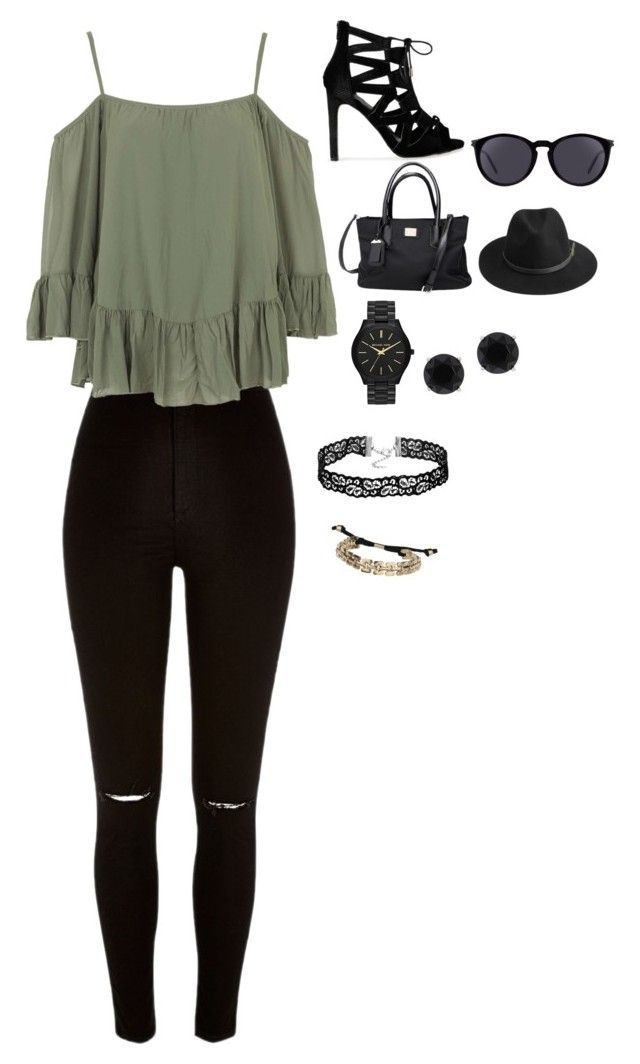 """""""#18"""" by ludivinehusson3 ❤ liked on Polyvore featuring River Island, WalG, Yves Saint Laurent, BeckSöndergaard, Michael Kors, Topshop and Anne Klein"""