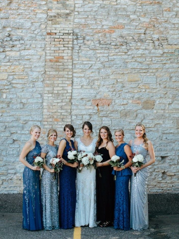 Wedding Ideas: Mismatched Bridesmaid Dresses - Geneoh Photography