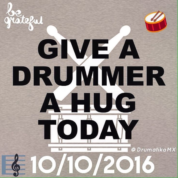 Hug a Drummer Day is Today! Give them a big Hug today! And a few kisses .... and a Pair of Drumsticks will be ok too. #HugADrummerDay #HugADrummer #HugADrummerDay2016 #Drums #Drummer #Drumheads #Drumsticks #Cymbals #DrumKit #Drumset #Drummergirl #Drumlife #Bateria #Baterista #Baquetas #Platillos #Tarola #DrummersRule #Music #Rock #PicOfTheDay #DrummerTempo