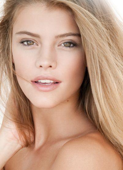 Flawless hair and makeup. Natural beauty