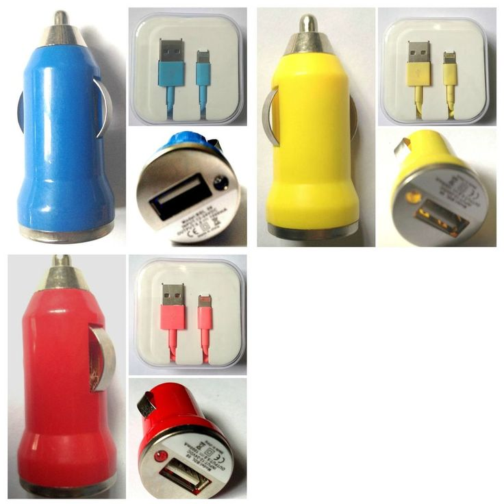 iPhone 5 5S 5C Lightning to USB Cable with USB Car Charger