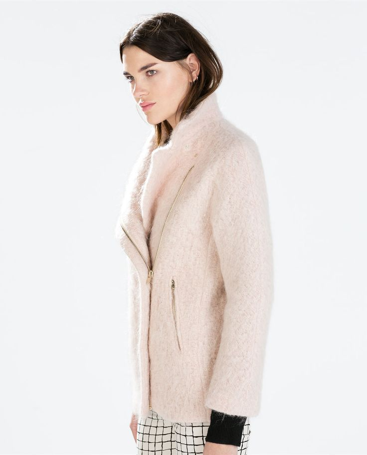 COAT WITH FUNNEL COLLAR from #Zara REF. 8053/878