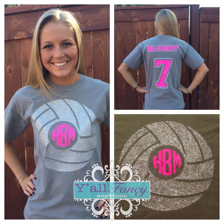 Volleyball SHORT SLEEVE Monogrammed by YallFancyBoutique on Etsy